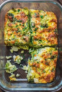 This Breakfast Broccoli Bake made with eggs, Provolone, and feta cheese is healthy, filling and delicious way to start your day! That's the only Broccoli Bake recipe you'll ever need. Health Breakfast, Breakfast Dishes, Healthy Breakfast Recipes, Healthy Baking, Brunch Recipes, Vegetarian Recipes, Healthy Recipes, Breakfast Casserole, Breakfast Ideas