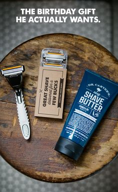 It's the gift that keeps shaving all year round. Dollar Shave Club delivers amazing razors and grooming products. Get a Dollar Shave Club gift card today. Creative Gifts, Cool Gifts, Diy Gifts, Unique Gifts, Diy Presents, Awesome Gifts, Birthday Gift For Him, Unique Birthday Gifts, Birthday Ideas