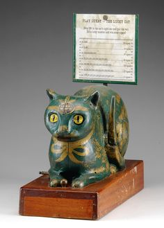 """""""Lukat - The Lucky Cat"""" gambling machine, produced in the 1930's"""