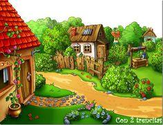 fondos para murales infantiles