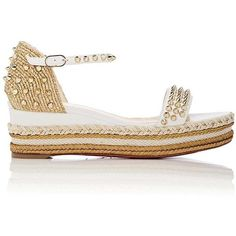 6c03db9bc42 Christian Louboutin Women s Madmonica Leather Wedge Espadrille Sandals  ( 795) ❤ liked on Polyvore featuring