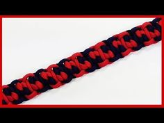 How to weave the Reduced Hogwarts Express Paracord Bracelet - YouTube