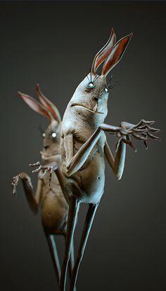 Rabbits-Lovely creepy rabbits