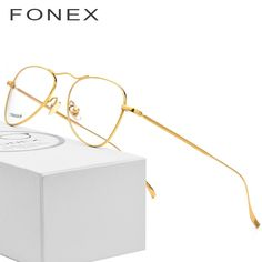 ff9254e9fd B Pure Titanium Glasses Frame Men Ultralight New Women Aviation Myopia  Optical Prescription Eyeglasses High Quality