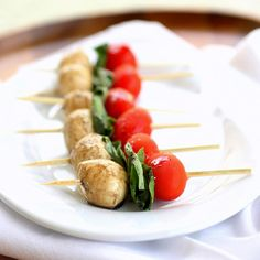 caprese skewers are a light option