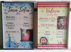 Cuadros de nacimiento. #hechoamano #diseño #diseñográfico #decoración