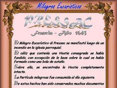 Leamos la BIBLIA: Milagros Eucaristicos, viernes 07-06-2015