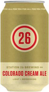 Station 26 Brewing Co. Colorado Cream Ale