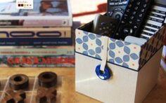 handmade decorative box for your cd,s or remote controls caixa para ter os seus comandos à mão