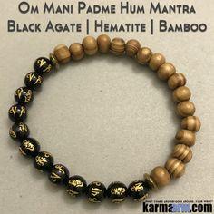 Beaded Yoga Handmade Bracelets. OM Mantral Rune Bamboo. Law of Attraction #LOA | Charm Mala I Meditation & Mantra I Spiritual.