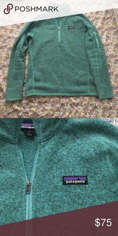 Patagonia better sweater 3/4 zip. Patagonia better sweater. 3/4 zip. Sea green/ turquoise color. Very soft and comfy. Patagonia Tops Sweatshirts & Hoodies