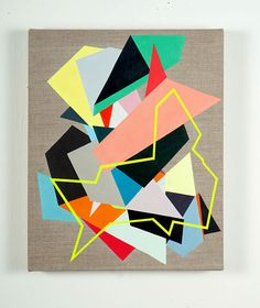 FIONA CURRAN SINKING FAST, 2011 ACRYLIC ON LINEN WITH CARD #PAINTING #ABSTRACTART #CONTEMPORARYART