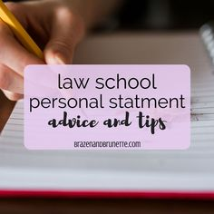 You Might Think That Your Law School Application Personal