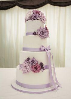 Lilac Wedding Cake   Flickr - Photo Sharing!