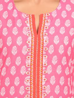 Shop Coral Red Cotton Straight Suit Set online at Biba.in - SKD4415CORRED