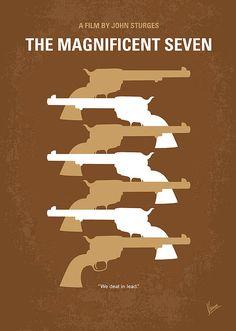 Kunstwerk: My The Magnificent Seven minimal movie poster' van van Chungkong Art The Magnificent Seven, Minimal Movie Posters, Thing 1, Alternative Movie Posters, Movie Poster Art, Star Wars Poster, Minimalist Poster, Poster Prints, Art Prints