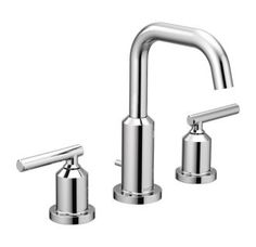 View the Moen T6142 Gibson Widespread Bathroom Sink Faucet - Includes Pop-Up Drain Assembly at Build.com.