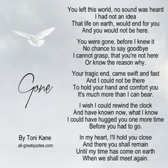 the Lord called you home. Our lives forever changed, all the people who love you were forever changed. We miss you more than words could ever express. We loves you so much papa ! Missing My Son, Missing You So Much, Just For You, Dad Poems, Grief Poems, Rip Daddy, Funeral Poems, Miss You Dad, Grieving Quotes