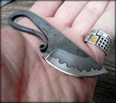 Forged knifevikinkg style neck knife by HKnives on Etsy,