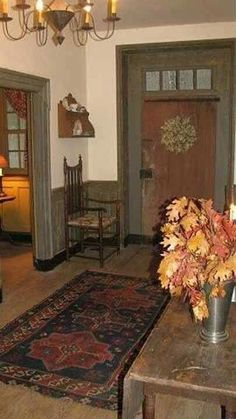 Unbelievably restored stone farmhouse is one of a kind. Center hall colonial has 8 corner fireplaces and 1 walk in fireplace. Painstakingly restored to… Primitive Living Room, Primitive Bathrooms, Primitive Homes, Primitive Kitchen, Country Primitive, Prim Decor, Country Decor, Rustic Decor, Farmhouse Decor