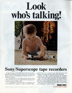 Look at that cutie patootie. Technology Meme, Technology Gifts, Futuristic Technology, Cool Technology, Computer Technology, Educational Technology, Look Who's Talking, Seven Years Old, Tape Recorder