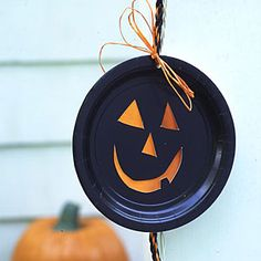 Halloween Kids Craft Idea: String up a Ghoulish Garland. Difficulty level = Medium to Hard depending on child's age. You could always skip a few steps or even make it a Kid & Parent Duo Craft Project :)  AllYou.com