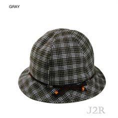 046fdaeae7706 J2R Ribbon Banded Bucket Crusher Hat For Women Wool Fedora One Size JRFF007  Gray  J2R