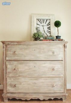 white washed dresser treatment on betterafter.net LOVE the finish