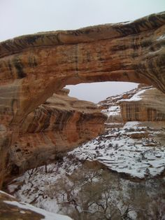 Visiting in the winters is steller .... #NaturalBridgesNationalMonument