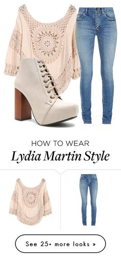 """Lydia Martin inspired outfit"" by maliahennig on Polyvore featuring Yves Saint Laurent and Qupid"