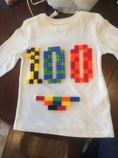100th day of Pre-School LEGO Shirt.