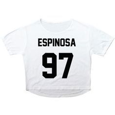Matthew Espinosa Crop Top T-Shirt Women ($15) ❤ liked on Polyvore featuring tops, crop tops, white, women's clothing, white top, crop top and white crop top