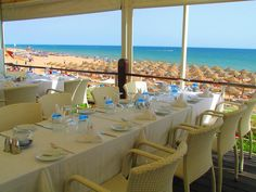 A table with a view and a half at Sandbanks in #ValedoLobo