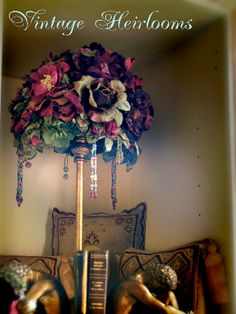 Love this shabby Chic lampshade by Gillian Shaw on ETSY Lampshade Ideas, Lampshades, Magical Bedroom, Letters From Home, Shabby Chic Lamp Shades, I Love Lamp, Cozy Cottage, Floral Wreath, Christmas Decorations