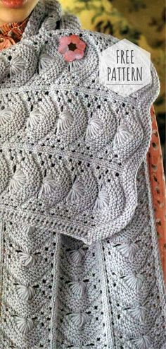 Scarf Detail : Material section Eight Dagger seven and 7 February or January Crochet Shawl, Knit Crochet, Free Knitting, Knitting Patterns, Womens Scarves, Ladies Scarves, Christmas Knitting, Knitting Accessories, Knitting Projects