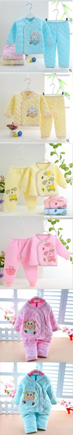 Newborn Baby girls Clothes Set 2016 Autumn Winter Cotton Baby Boy Clothes Cartoon bunny Girls Baby Clothing Sets infant clothing $8.59