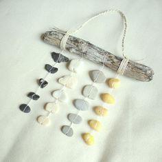 Rock mobile / beach stone mobile / beach stones / coastal
