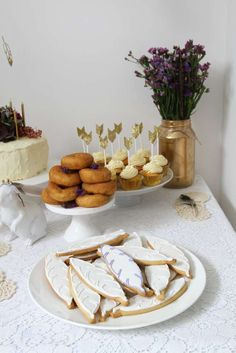 Cool desserts at a boho feather birthday party! See more party ideas at CatchMyParty.com!