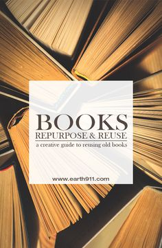 We're bringing you a plethora of ideas for repurposing old books so they stay out of our landfills – and continue to bring joy into our homes. Book Crafts, Hobbies And Crafts, Upcycled Crafts, Repurposed, Diy Projects Bookshelves, Paper Magic, Book Bags, Eco Friendly House, Handmade Books
