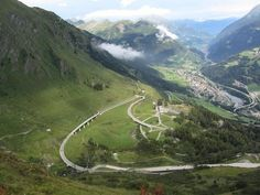 Gotthard Pass, Swiss Alps -  The most famous of all the Alpine passes, travelling north from Italy into Switzerland, you'll come to Gotthard Pass, which you can cross on either the new, straightforward road, or the old roller coaster as pictured.
