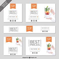 Shopping online minimalist banner Free Vector