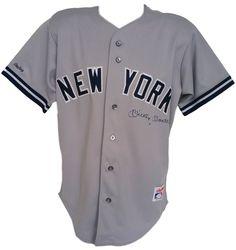 Mickey Mantle Signed New York Yankees Gray Rawlings Jersey JSA LOA