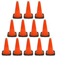 """12 PCS Traffic Cones Deal (18"""" HT)"""