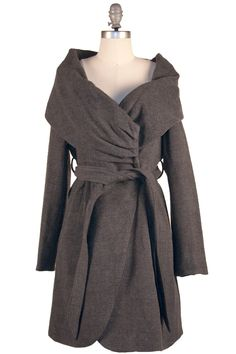 The Warm Embraces Coat by poetrie. I am addicted to this coat. i just think this neckline is spectacular.