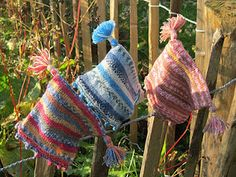 knitted childs cap