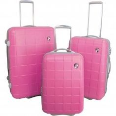 Rockland Luggage Rolling Trunk, Pink with White Dots #vintage ...