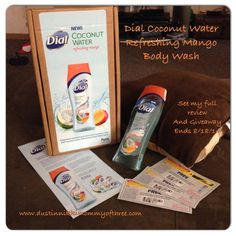 Dial Coconut Water with Mango Body Wash Review & Blog #Giveaway #GetNoticed #ad « DustinNikki Mommy of Three
