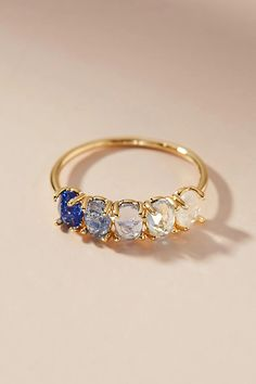 I Love Jewelry Slide View: Ombre Birthstone Ring - I Love Jewelry, Jewelry Sets, Gold Jewelry, Jewelry Accessories, Jewelry Necklaces, Sapphire Jewelry, Bijou Brigitte, Saphir Rose, September Birthstone Rings