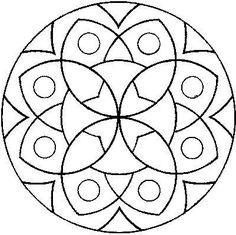 desenho de mandala para artesanato
