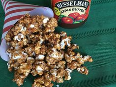 For a twist on traditional popcorn try our Musselman's apple butter caramel corn!
